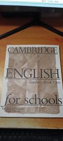 CAMBRIDGE ENGLISH for schools:Teacher's book one