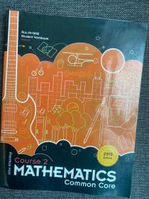 现货 Mathematics, Course 2, Common Core, All-In-One Student Workbook, Version A