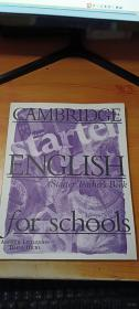 CAMBRIDGE ENGLISH FOR SCHOOLS  starter teacher's book