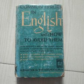 Common Errors in English and How to Avoid Them英语中的常见错误及其避免