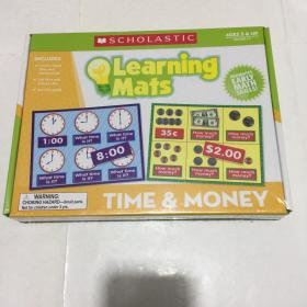 learning mats  Learning Mats TIME & MONEY  Ages 5 & Up Grades K-2  库存书未拆封
