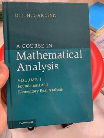 现货 A Course in Mathematical Analysis: Volume 1 英文原版 数学分析课程 数学分析 加林 (Garling D.J.H.)