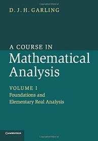 预订 A Course in Mathematical Analysis: Volume 1 英文原版 数学分析课程 数学分析 加林 (Garling D.J.H.)