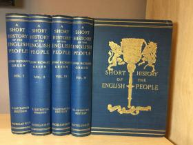 1902-1903 A Short History Of The English People  四册全19*25.5CM