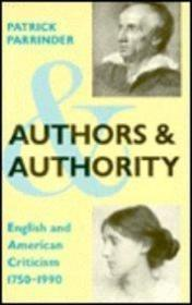 Authors And Authority (social Foundations Of Aesthetic Forms Series.)