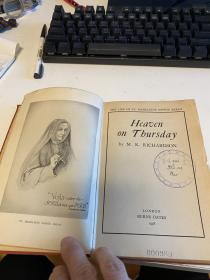 Heaven on Thursday;: The life of St. Madeleine Sophie Barat 精装 1948索菲巴拉特 天主教法国圣人