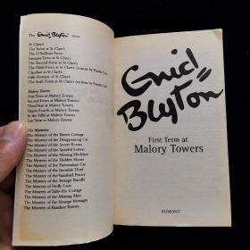 英文原版 1 FIRST TERM AT MALORY TOWERS