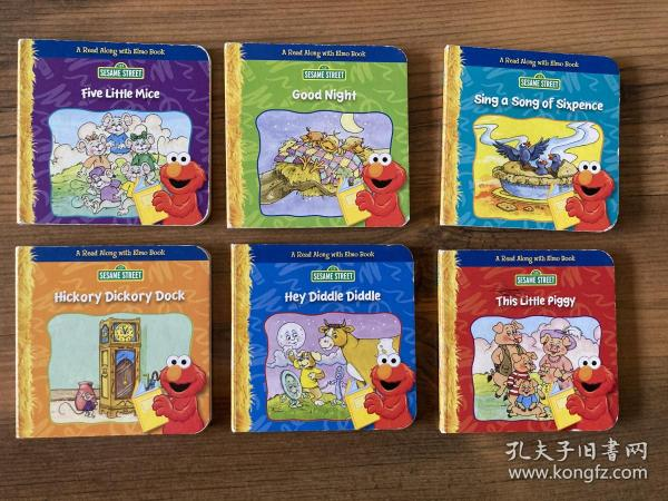 Sesame Street 小纸板书 6本 five little mice,hickory dickory dock,sing a song of sixpence,this little piggy,hey diddle diddle,good night