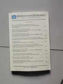 quantitative economics 【vol.11,no.4】