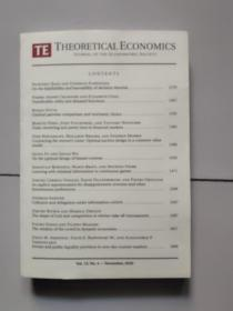 theoretical economics【vol.15,no.4-november,2020】