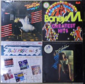 留声机專用 BONEY M FLASHDANCE DISCO DISC 2 DANCE MUSIU 3    黑胶唱片4隻 港版