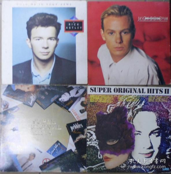 留声机專用 RICK ASTLEY JASON DONOVAN SUPER ORIGINAL HITS 1-2  黑胶唱片4隻 港版