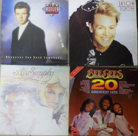 留声机專用 RICK ASTLEY JASON DONOVAN BEE GEES AIR SUPPLY  黑胶唱片4隻 港版