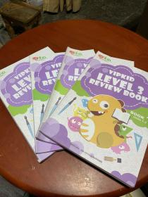 美国小学在家上 VIPKID LEVEL 3 REVIEW BOOK 1+2+3+4 4册合售