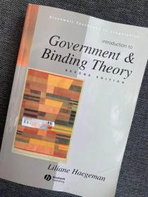 现货 Introduction to Government & Binding Theory