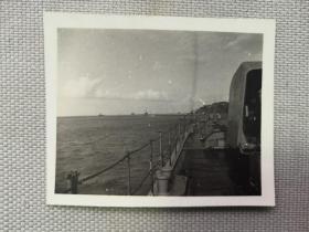 紅色收藏:黑白老照片 民國 《日軍軍艦 艦隊 長江上 行進》一張!尺寸:6厘米*5厘米