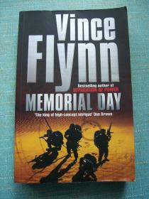 VINCE FLYNN MEMORIAL DAY   (文斯·弗林纪念日)【英文原版】16开.品相好.【外文书--24】