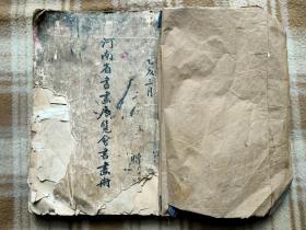 A13191,民國【河南省書畫展覽會書畫冊】品相差些不缺頁