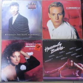 留声机专用 RICK ASTLEY JASON DONOVAN GLORIA ESTEFAN HEAVENLY BODIES  黑胶唱片4只 港版