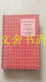 THE MAJOR CRITICS The Development of Englishi Literary Criticism