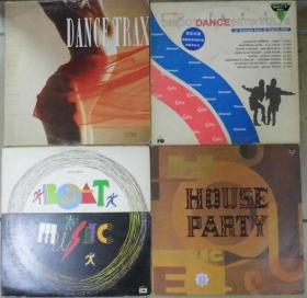 留声机專用 DANCE TRAX BOAT MUSIC DANCE HITS HOUSE PARTY  黑胶唱片4隻 港版