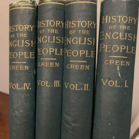 1886年版英人简史History of the English People