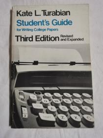 Student's Guide For Writing College Papers 学生撰写大学论文指南【英文原版 大32开 1976年印刷】