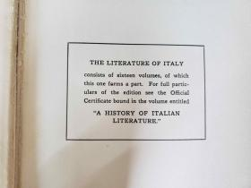 The Literature of Italy 1265 to 1907