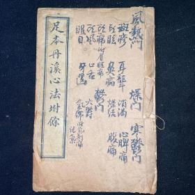 中醫古籍《足本丹溪心法附余》卷12、13、14、15卷,線裝一冊全,