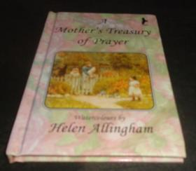 2手英文 A Mother's Treasury of Prayers Helen Allingham 海伦阿林厄姆英格兰 印的一般 小本 fa37