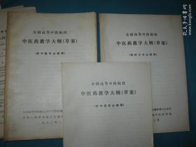 中醫藥教學大綱草案(3種)