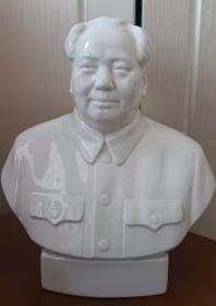 """文革時期""""北京""""4號瓷半身毛主席像(高26厘米,近全品)"""