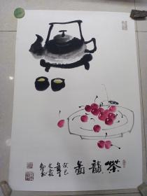 茶韻圖 手繪[畫心 66 x 46]