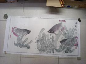 文生手繪  富貴圖[畫心 114 x 60]