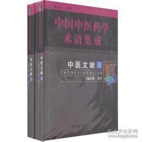 中醫文獻(中國中醫藥學術語集成 16開精裝 全二冊)