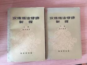 漢語語法修辭新探 上下兩冊全
