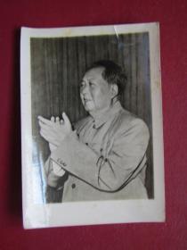 文革照片:毛主席在九大上