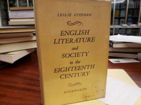 English Literature and Society in the Eighteenth Century.