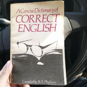 A Concise Dictionary of Correct English 简明正确英语词典(西柜2)