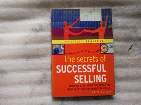 the secrets of SUCCESSFUL SELLING