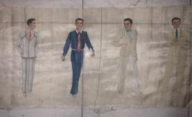 佚名繪畫人物絹畫