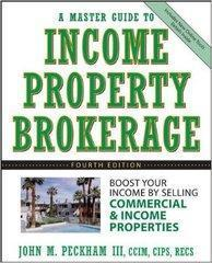 A Master Guide to Income Property Brokerage    房地产经销商手册