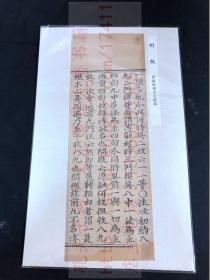 本網唯一 《2204 華嚴經探玄記》約明早中期刻佛經單經 小字經一折六行廿一字 存一折