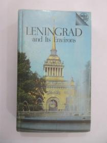 【外文书  32开  精装 284页 】LENINGRAD  AND ITS ENVIRONS