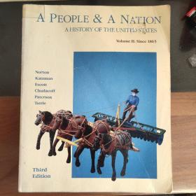 A People And A Nation:A History Of The United States ( Volume II:Since 1865) 3rd edition ,如图 英文原版大16开 插图本,较重