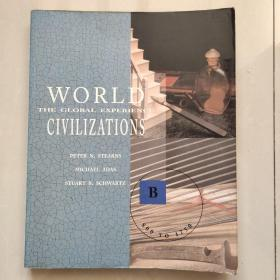 WORLD CIVILIZATIONS:The global experience ( Volume B:800 to 1750)  如图 英文原版大16开 插图本,较重
