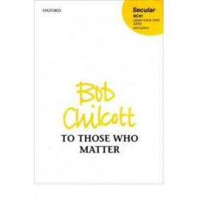 【进口原版】To Those Who Matter: Vocal score