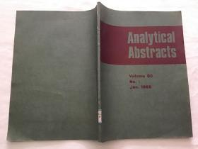 Analytical Abstracts  抽象分析  英文版影印本