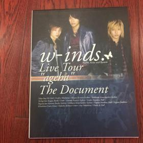 "w-inds.Live Tour""ageha""The Document―ウィンズツアー・ドキュメント写真集:ウィンズ ツアー・ドキュメント写真集"