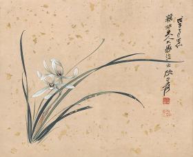 Modern Times-Zhang Daqian-Orchid-35x43cm HD Micro Spray Replica